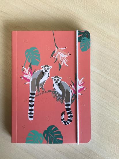 Carnet de poche A6 lémurien