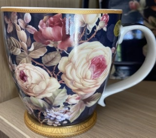 Tasse fleurie grand modèle