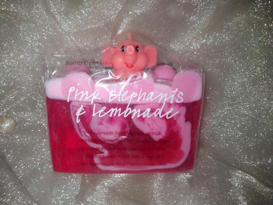 Tranche de savon Pink Elephants And Lemonade